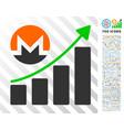 monero growing chart flat icon with bonus vector image vector image