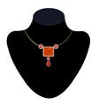 necklace on a mannequin vector image vector image