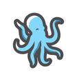 octopus sea animal icon cartoon vector image vector image