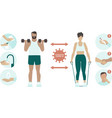 prevention practices for gym and sport club vector image
