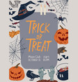 promo poster halloween party with traditional vector image