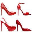 red fashion shoes vector image
