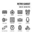 retro gadget vector image vector image