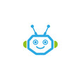 robot head with smile face logo design vector image
