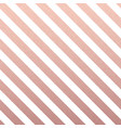 rose gold glittering diagonal lines pattern on vector image vector image