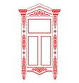 russian window vector image