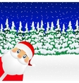 Santa Claus standing in the forest vector image