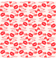 Seamless love pattern with grunge design vector image