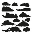 set black silhouette shapes clouds vector image vector image
