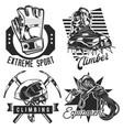 set hiking emblems labels badges logos vector image
