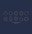 set modern geometric framework for text gold vector image