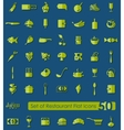 Set of restaurant icons vector image vector image