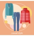 Set of summer and autumn dresses for office vector image