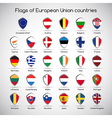 Set the flags of European Union countries symbol vector image vector image
