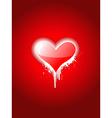 Simple heart attractive design vector image