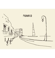 Sketch of streets in Monaco drawn vector image vector image