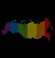 spectrum dot lgbt russia map vector image vector image