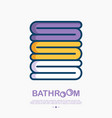 stack of towels thin line icon vector image vector image