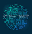 strategy round blue outline vector image vector image