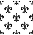 Stylized French fleur de lys seamless pattern vector image vector image