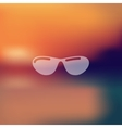 sunglasses icon on blurred background vector image