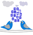 The Birds-and-cloud vector image vector image