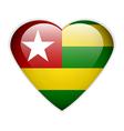 Togo flag button vector image vector image