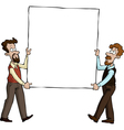 two men with a picture vector image vector image
