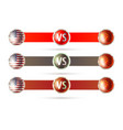 usa versus china competition symbol vector image