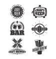 vintage craft beer logos vector image vector image