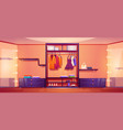 walk-in closet or dressing room full clothes vector image
