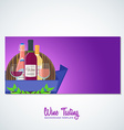 wine flyer banner backdrop template vector image