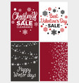 winter holidays set posters vector image vector image