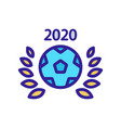 world cup soccer icon isolated contour vector image vector image
