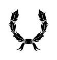 wreath black flat symbol vector image vector image