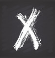 x mark grunge textured hand drawn on chalkboard vector image