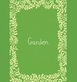 young green color fern leaf frame