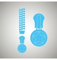 zipper isolated design vector image vector image