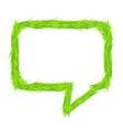 Grass Speech Bubble vector image