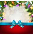 Christmas background with fir twigs EPS 10 vector image