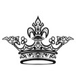hand drawn crown vintage engraved vector image