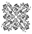 Black floral swirling ornament vector image