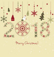 2018 new year happy holidays background vector image vector image