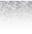 3d falling snow effect vector image vector image