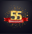 55 years anniversary logo template on dark vector image vector image