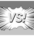 abstract fight monochrome comic concept vector image vector image