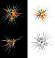 abstract star design element vector image vector image