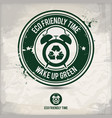 alternative eco time stamp vector image