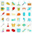 apartment renovation icons set cartoon style vector image vector image