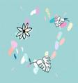 artistic confetti pattern vector image